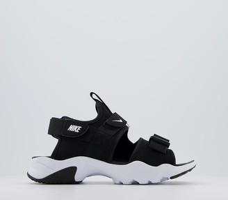 Nike Canyon Sandals Black White F