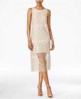 Kensie Lace-Contrast Midi Dress