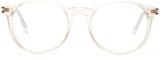 Saint Laurent Round Acetate Glasses - Clear