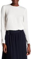 A.L.C. Sally Ruffle Back Silk Shirt