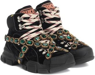 Gucci Flashtrek velvet sneakers