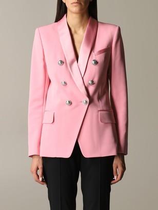Balmain Satin Jacket With Jewel Buttons