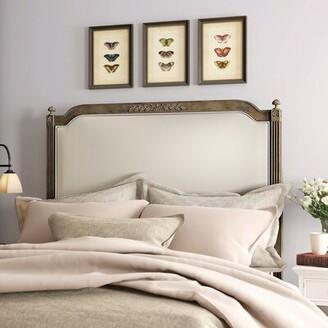 """Birch Laneâ""""¢ Heritage Fleur Upholstered Panel Headboard Birch Lanea Heritage Size: Queen, Color: Rustic Oak"""
