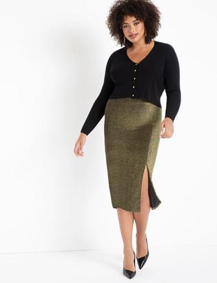 ELOQUII Sparkle Skirt with Slit