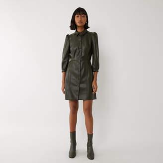 Warehouse FAUX LEATHER MINI SHIRT DRESS