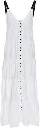 Frame Button-Front Utility Midi Dress