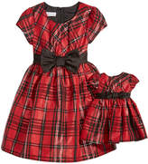 Bonnie Jean 2-Pc. Plaid Dress & Doll Dress Set, Little Girls (4-6X)