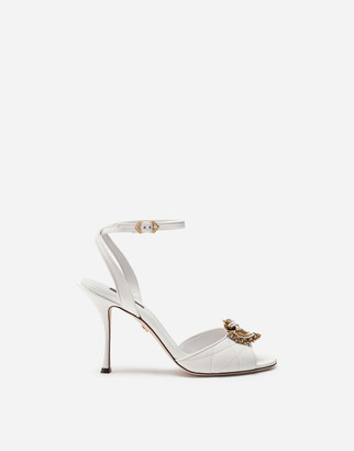 Dolce & Gabbana Matelasse Nappa Leather Devotion Sandals