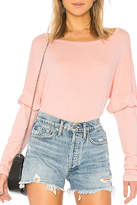 Michael Lauren Pink Ruffle Top