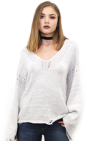 Wildfox Couture Blair Sweater in Flecked White