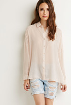 Forever 21 FOREVER 21+ Contemporary Cutout-Side Shirt