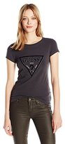 GUESS Women's Short Sleeve R3 Classic Flock Tri Tee