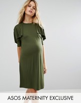 Asos T Shirt Dress with Ruffle