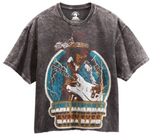 Junk Food Clothing Cotton Jimi Hendrix Graphic Cropped T-Shirt