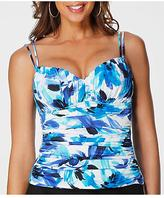 Miraclesuit Rialto Different Strokes Wire-free Tankini Swim Top Swimwear