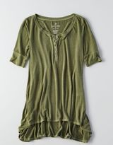 American Eagle AEO Soft & Sexy Henley T-Shirt