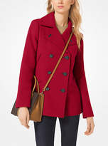 Michael Kors Wool-Blend Peacoat