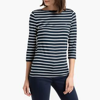 Tommy Hilfiger Boat-Neck T-Shirt with 3/4 Length Sleeves