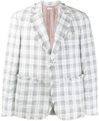Thom Browne Seersucker Tweed Blazer Jacket