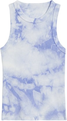 Banana Republic Petite Fitted Tie-Dye Ribbed Tank