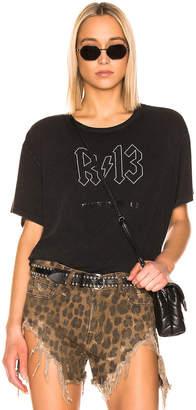 R 13 Back in Black Boy Tee in Acid Black | FWRD
