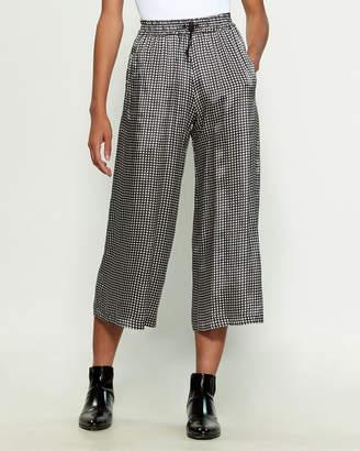 Hache Star Print Crop Pants