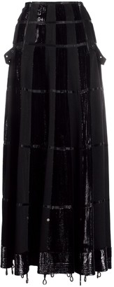 Christian Dior 2000s pre-owned panelled maxi A-line skirt