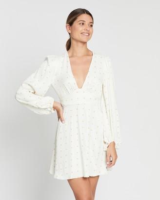Shona Joy Hazel Plunged Mini Dress