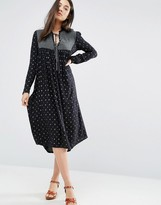 d.RA Penelope Paneled Boho Dress