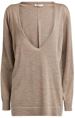 The Row Cashmere-Silk Baba Sweater