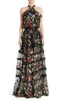 Alexis Glory Long Floral Embroidered Dress
