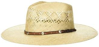 M&F Western Sisal Fedora Hat (Natural) Fedora Hats