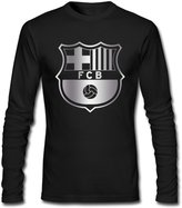 MVWAPOD Men Futbol Club Barcelona FC Platinum Logo T-shirts
