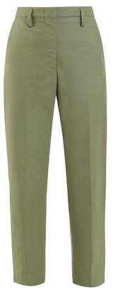 Golden Goose Golden Mid Rise Tailored Cotton Twill Trousers - Womens - Khaki