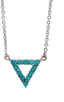 Jennifer Meyer Turquoise Open Triangle Pendant Necklace