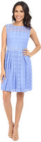 London Times Daisy Dot Cap Sleeve Full Skirt