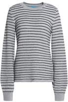 MiH Jeans Metallic Striped Merino Wool-Blend Sweater