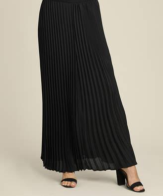 Suzanne Betro Women's Casual Skirts 101BLACK - Black Pleated Maxi Skirt - Women