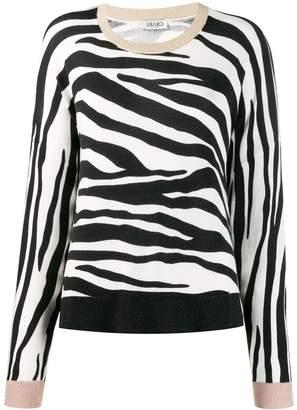 Liu Jo zebra print jumper