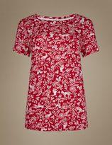 Marks and Spencer Short Sleeve Pyjama Top