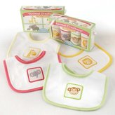 Baby Aspen BA16013AS Animal Crackers For Messy Snackers 4 Piece Bib Set Baby Shower