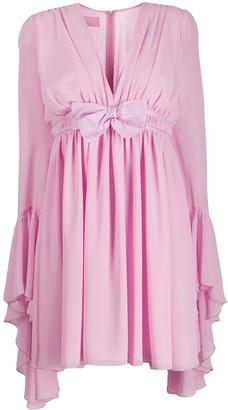 Giamba fluted-cuff babydoll dress