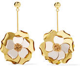 Oscar de la Renta Petunia Gold-tone, Bead And Acetate Earrings