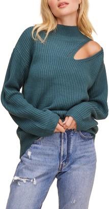 ASTR the Label Cutout Turtleneck Sweater