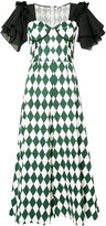 Tome harlequin print dress - women - Cotton - 4