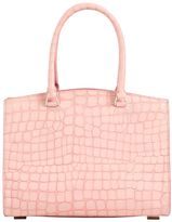 Rochas Small Croc Embossed Leather Bag