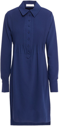 See by Chloe Pintucked Crepe Shirt Dress