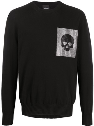 Just Cavalli Skull Patch Jumper