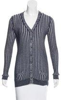 Marc Jacobs Cashmere & Silk Rib Knit Cardigan
