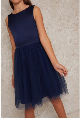 Chi Chi London Girls Larsisa Dress - Navy